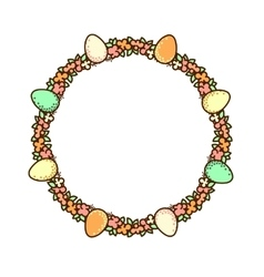 Easter circle frame vector image
