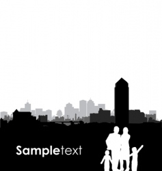 family cityscape vector image vector image