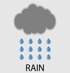 Rain icon weather vector image