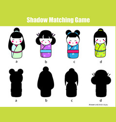 shadow matching game find the right shadow vector image vector image