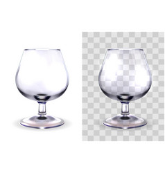 Brandy glass transparent vector