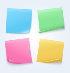 color sheets sticky papers on announcement board vector image