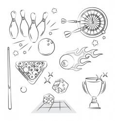 games set vector image vector image