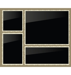 Isolated photo frames set vector image
