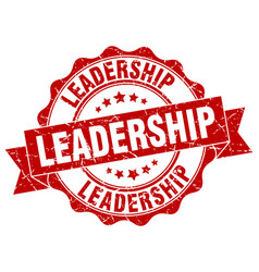 leadership stamp sign seal vector image vector image
