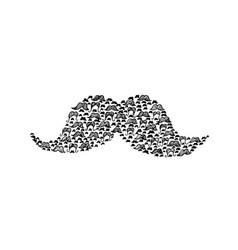 mustache doodle vector image