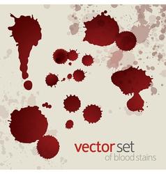 Splattered blood stains set 6 vector image vector image