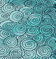 Waves hand drawn pattern abstract background curl vector