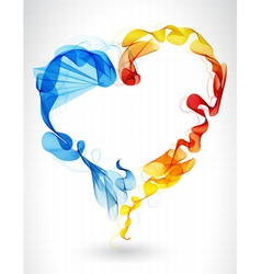 Abstract wave heart vector image vector image