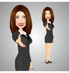 business woman giving a right hand for vector image vector image