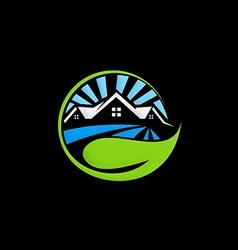 ecology house environment logo vector image vector image