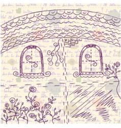 facade paper vector image vector image