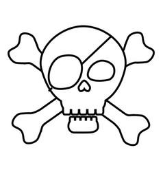 pirate skull symbol vector image