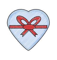 Romantic gift box vector