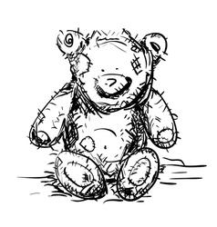 Toy teddy bear vector