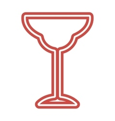 Wine Glass icon goblet symbol flat vector image
