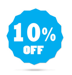 10 percent off on white background 10 percent off vector image vector image