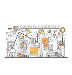 cryptocurrency concept in flat vector image