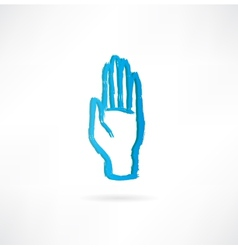 hand with an open palm icon vector image vector image