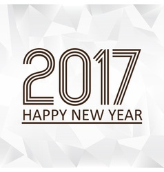 happy new year 2017 on wrinkled paper low polygon vector image vector image