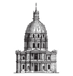 Invalides at paris containing museums and vector