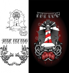life house tattoo vector image