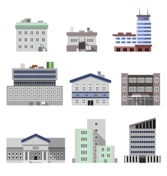 Office buildings flat vector image vector image