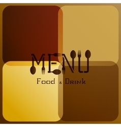 restaurant menu with modified letters 3 vector image vector image