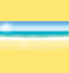 summer beach background blurred vector image