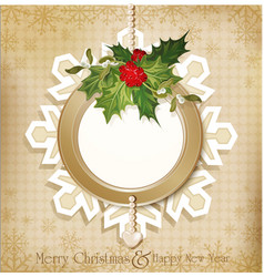 vintage retro christmas background vector image vector image