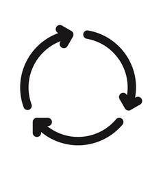3 arrows rotation icon vector image