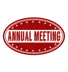 Annual meeting grunge rubber stamp vector