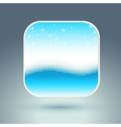 App icon with snowflakes and wave vector image