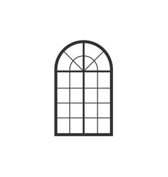 arched window icon isolated flat design vector image