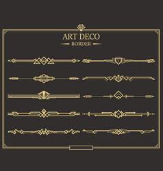 art deco border 10 object 01 vector image