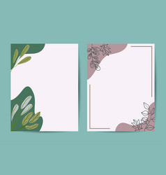 banner on flower background wedding invitation vector image
