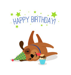 Birthday puppy portrait vector