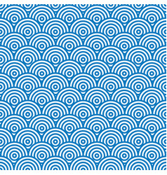 blue and white abstract seamless pattern vector image