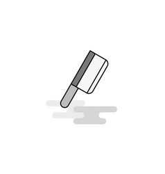 butcher knife web icon flat line filled gray icon vector image