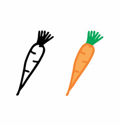 carrots freehand vector image