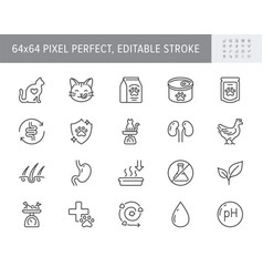 cat food line icons include vector image