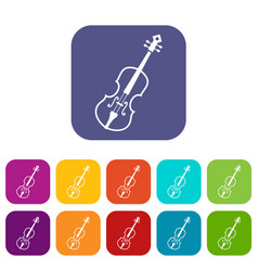 Cello icons set vector