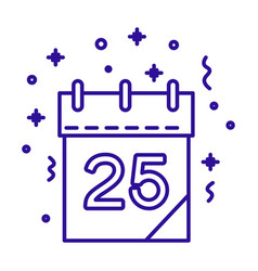christmas day calendar with date number and vector image