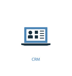 crm concept 2 colored icon simple blue element vector image