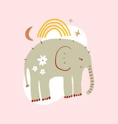 cute nursery elephant childish african animal pre vector image