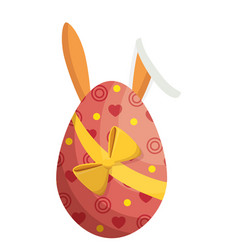 egg easter bunny decor vector image