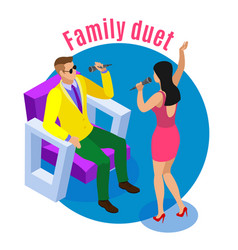Family duet isometric composition vector