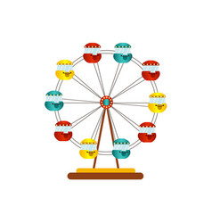 ferris wheel icon isolated vector image
