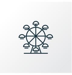 ferris wheel icon line symbol premium quality vector image