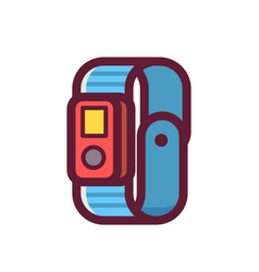Fitness tracker icons vector